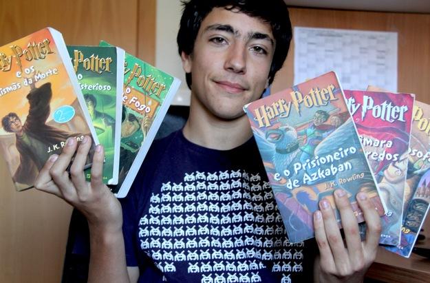 O gosto pela saga Harry Potter foi passado a MIguel pela mãe, Rute Vasco.