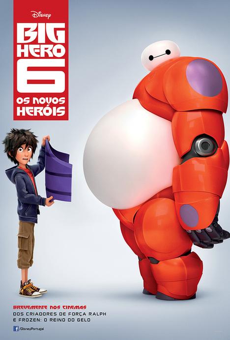 Capa do filme: «Big Hero 6 - Os Novos Heróis »