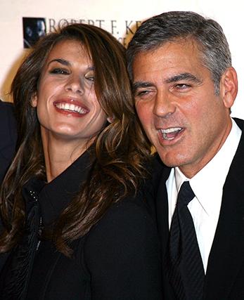 """A modelo e apresentadora italiana Elisabetta Canalis """"curtiu"""" com Clooney entre 2009 e 2011. No momento da separação desabafou que """"os príncipes azuis não existem"""", mas tem de estar grata ao ator, que praticamente a tirou do anonimato e a lançou numa carreira internacional."""