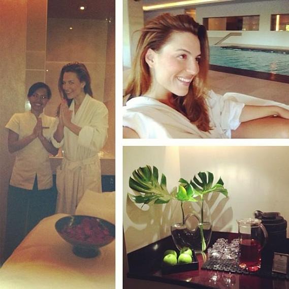 """Ana Rita Clara passou uma parte do fim de semana a cuidar do corpo: """"Tempo para uma massagem Bali a quatro mãos"""", partilhou a apresentadora da SIC Mulher."""