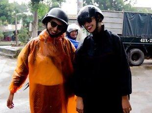 Bárbara e Ana em Hoi An, Vietname