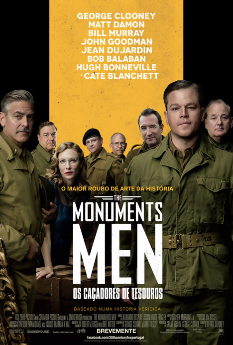 Poster do filme The Monuments Men - Caçadores de Tesouros