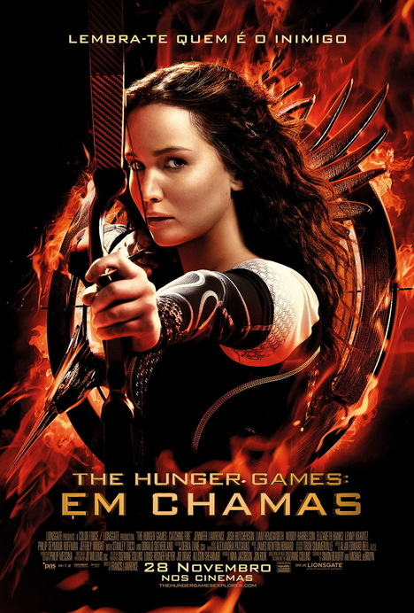 Poster do filme The Hunger Games: Em Chamas