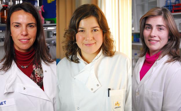 Ana Barbas, Inês Sousa e Adelaide Fernandes foram as três investigadoras distinguidas pela L'Oréal Portugal, no âmbito do prémio Mulheres na Ciência 2011