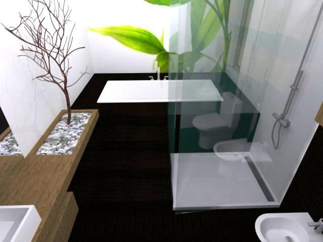 Projeto de decora o 3d casa de banho decora o e for Decorar casas online 3d