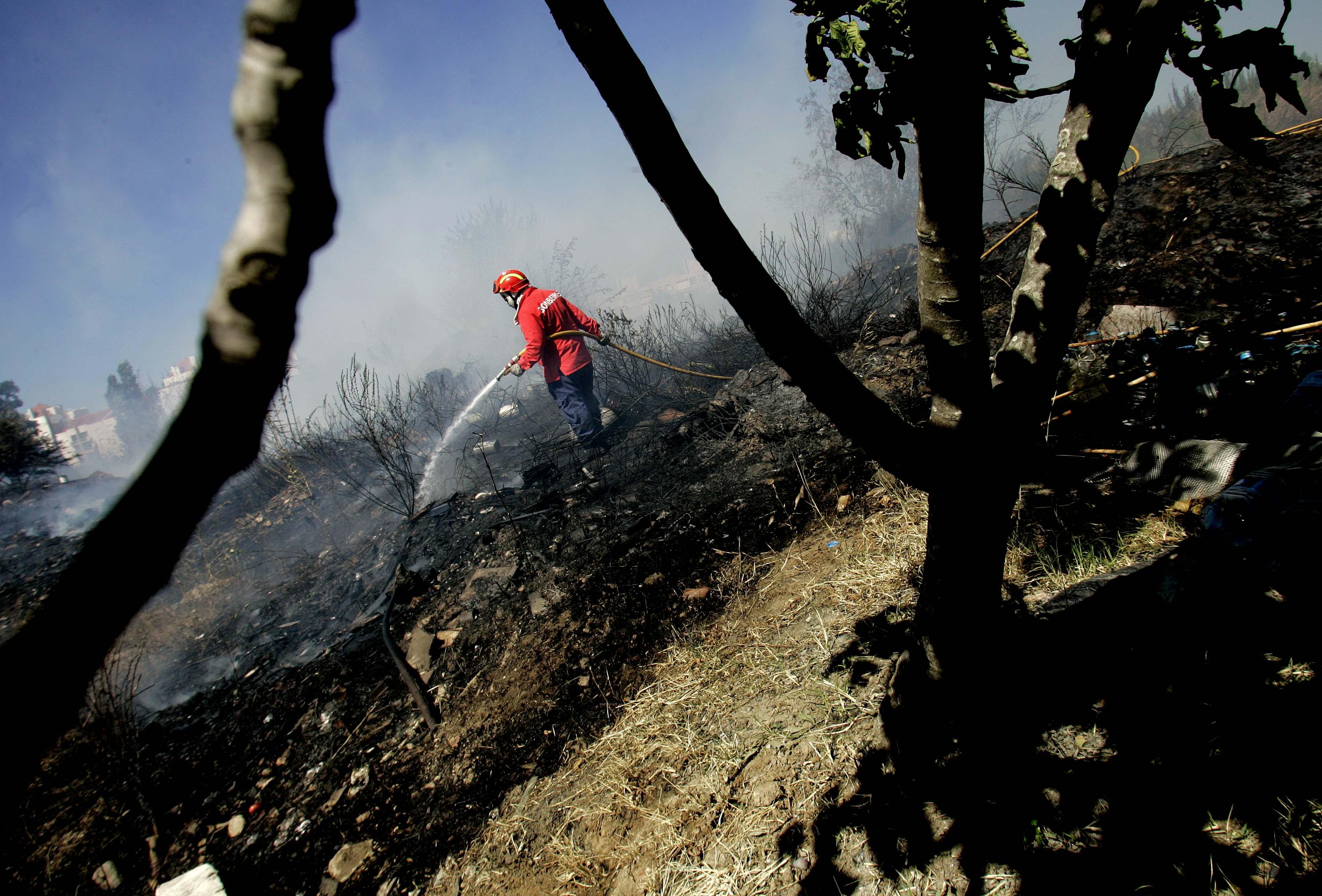 Fogo em Oleiros está a ser combatido por 92 bombeiros e 28 viaturas