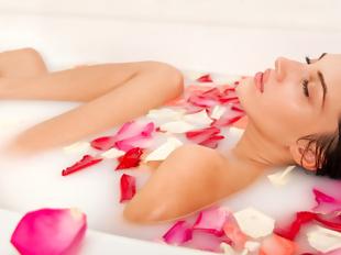 Banho de rosas caseiro