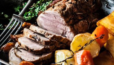 Lombinho de porco assado com ervas