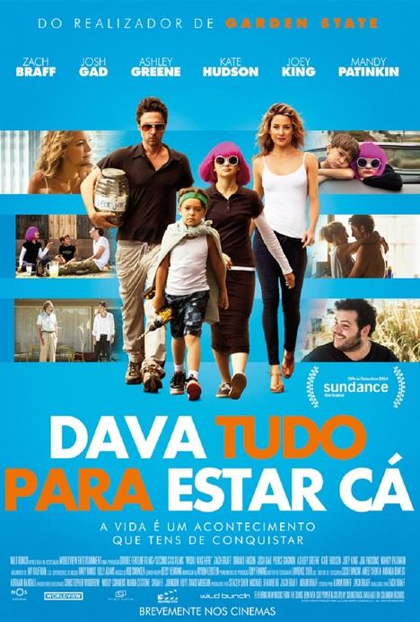 Capa do filme: «Dava Tudo Para Estar Cá»
