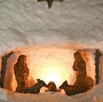 Presépio de sal na aldeia de Natal