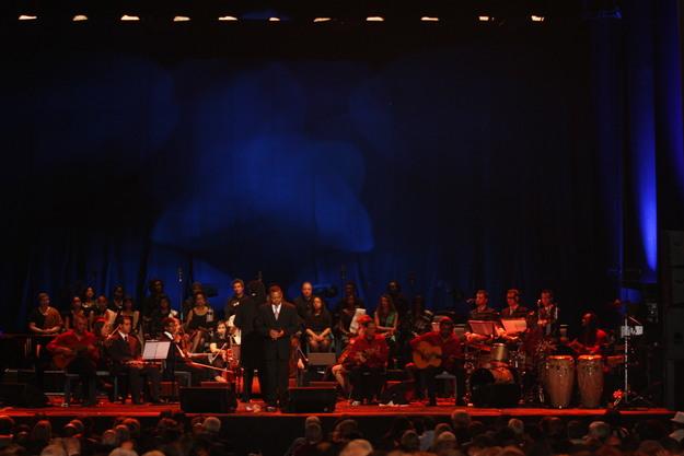Uma imagem do palco