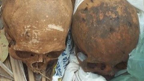 Praia: Encontrados dois crânios na Várzea